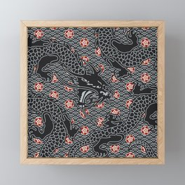 Hidden Dragon / Oriental dragon design Framed Mini Art Print