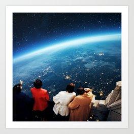 Earth view Art Print