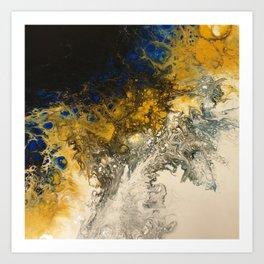 Butterscotch & Cobalt Art Print