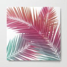Gradient Palm Leaves Metal Print