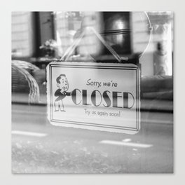 Closed Canvas Print