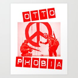Banksy/Otto in Red Art Print