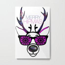 MERRY HIPMAS / DEER Metal Print