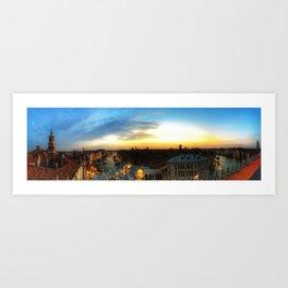 Sunset onthe Grand Canal Art Print