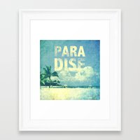 paradise Framed Art Prints featuring Paradise by M Studio