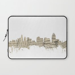 Cincinnati Ohio Skyline Sheet Music Cityscape Laptop Sleeve