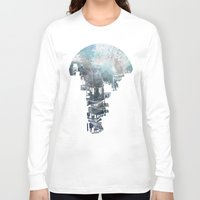 navy Long Sleeve T-shirts featuring Secret Streets II by David Fleck
