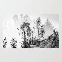 woodland Area & Throw Rugs featuring Woodland by Schwebewesen • Romina Lutz