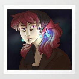 Sci-fi Girl Redraw Art Print