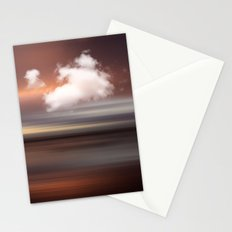 SEASCAPE - abstract landscape in glowing copper tones Stationery Cards