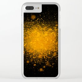 golden dust explosion Clear iPhone Case