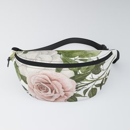Pink Rose and Magnolia Fanny Pack