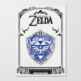 Zelda legend - Hylian shield Canvas Print
