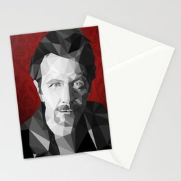 Gary Oldman low poly Stationery Cards