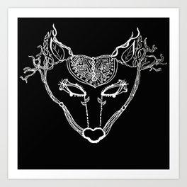 SkyWolf Art Print