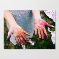 tye dye Canvas Prints featuring Dye by Amy Kelly