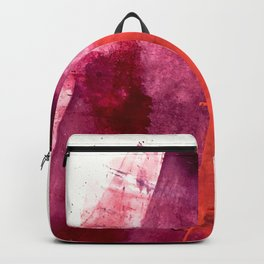 Blushing: a vibrant, minimal abstract in purple, pink, and red Backpack