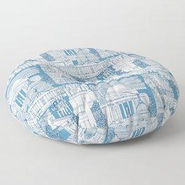 Washington DC toile blue Floor Pillow