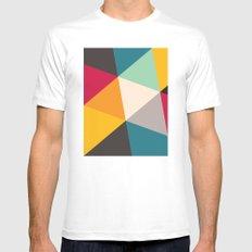 Geometric Triangles MEDIUM Mens Fitted Tee White