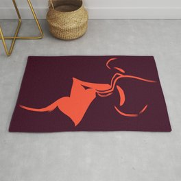 The Lovers Kiss Rug