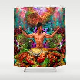 Crab Man Vision Shower Curtain