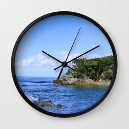 Haiti Oceanscape Wall Clock