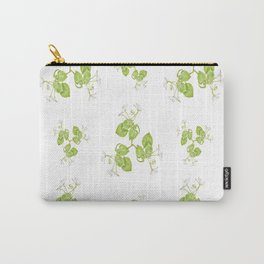 Photographic Floral Decorative Pattern Carry-All Pouch