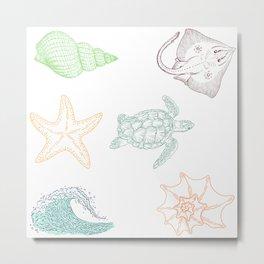 Ocean creatures Metal Print