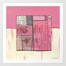 Flying Colors in Pink Art Print