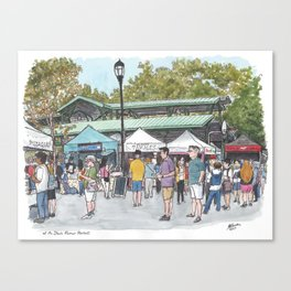 Davis Farmers Market Canvas Print