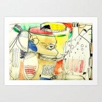 kitchen Art Prints featuring kitchen by Matteo Lotti