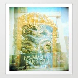 Hawaiian Tiki Art Print