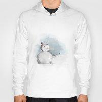 snowman Hoodies featuring snowman by Konstantina Louka
