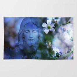 Jesus Christ In The Garden By Annie Zeno Rug