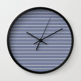 Blue Gray Stripes Wall Clock