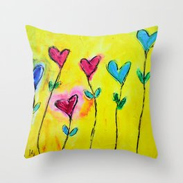 Amor de colores Throw Pillow