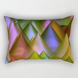 colored cones -2- Rectangular Pillow
