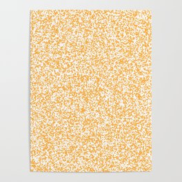Tiny Spots - White and Pastel Orange Poster