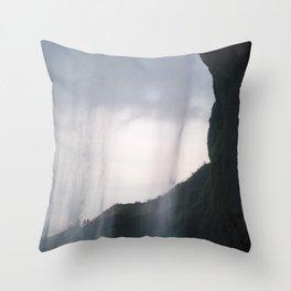 Behind Seljalandsfoss Throw Pillow