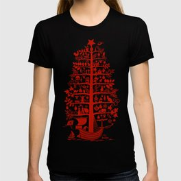 CHRISTMAS TREE red ITINERANT T-shirt