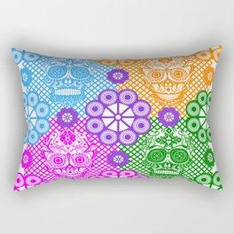 deadly mexican skull picnic pattern ecopop Rectangular Pillow