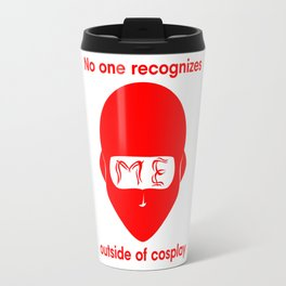 Recognize NINJA- Red Print Travel Mug