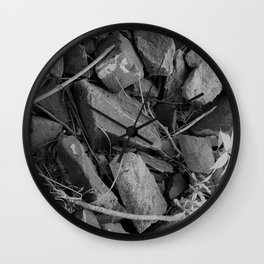 Black and White Stones Wall Clock
