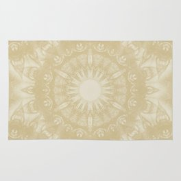 Peaceful kaleidoscope in beige Rug