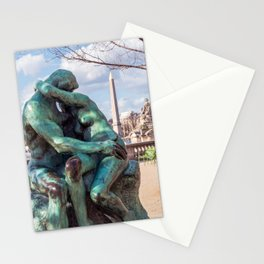 The Kiss by Auguste Rodin in the Tuileries Garden - Paris Stationery Cards