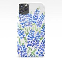 Watercolor Texas bluebonnets iPhone Case