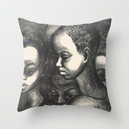 African American Art Throw Pillow