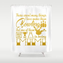 Bowling Mimi Shower Curtain