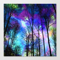 decal Canvas Prints featuring fantasy sky by haroulita
