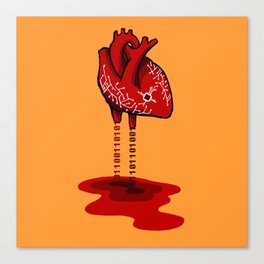 Binary Heart Canvas Print